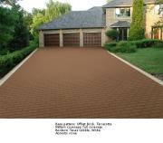 Варианты проектирования - Текстурный рисунок шаблона Offset Brick с бордюром белого цвета  в форме булыжника (Texas Cobble)